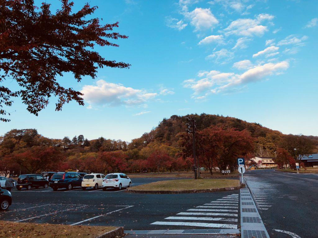 リゾートホテル秋の外観